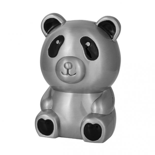 Sparebøsse Panda fortinnet - Med navn