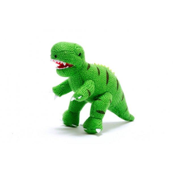 Rangle - Strikket Dinosaur - Grøn