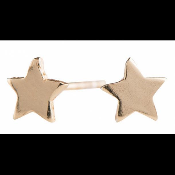 Nordahl Andersen – Ørestikker stjerne blank forgyldt sølv