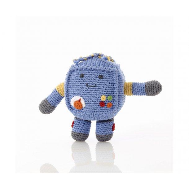 Rangle - Hæklet Robot - Blå