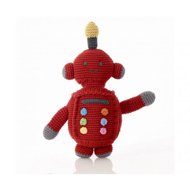 Rangle - Hæklet Robot - Rød