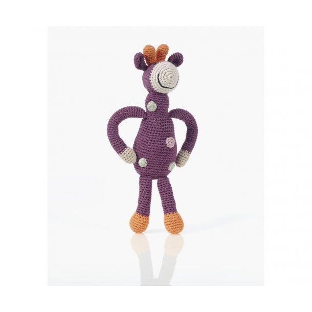 Rangle - Hæklet Giraf - Lilla