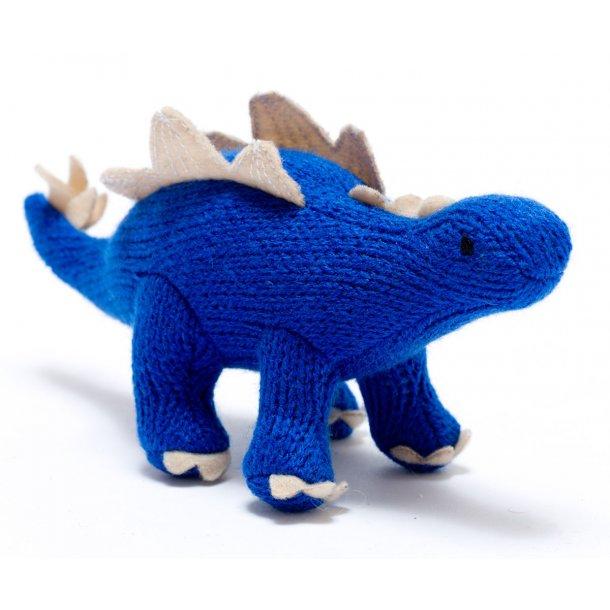 Rangle - Strikket Dinosaur - Blå