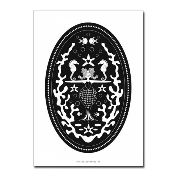 H.C Andersen kort  - Den lille havfrue