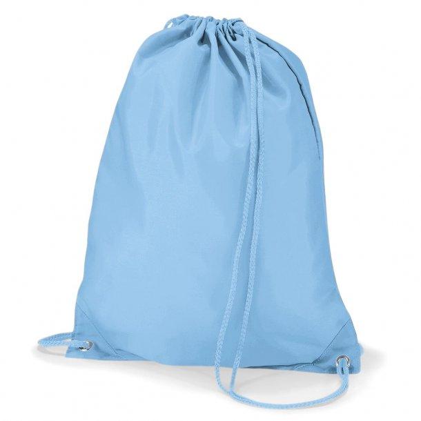 Gymnastikpose med navn - Lyseblå