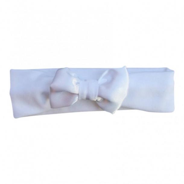 Hårbånd med hvid sløjfe