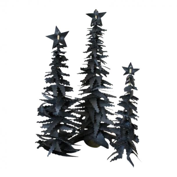 Skønne håndlavede juletræer - 3 stk.