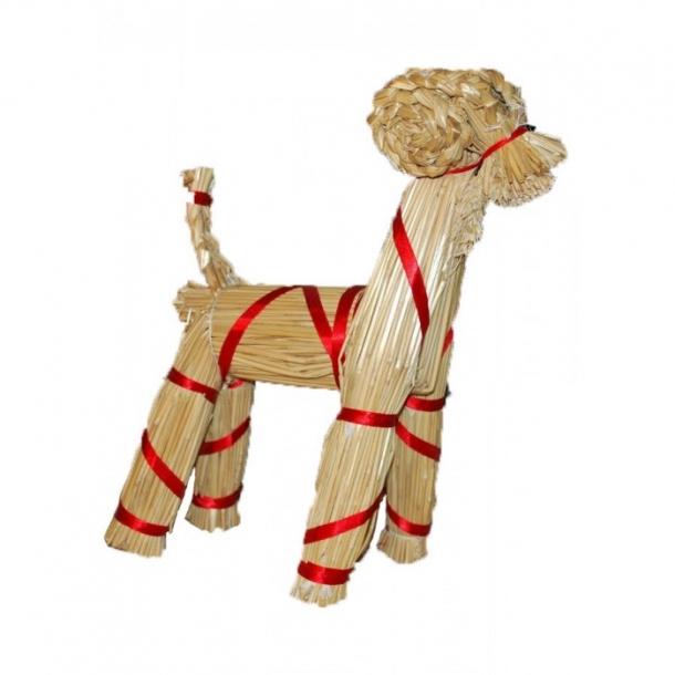 Mini julebuk med bånd 30 cm