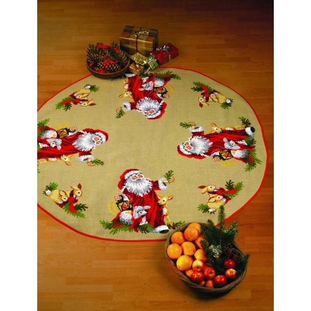Broderikit - Juletræstæppe - Julemandens dyr