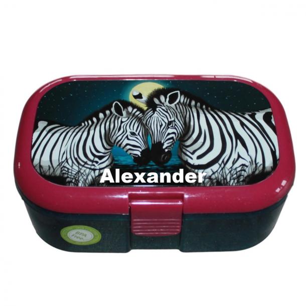 Madkasse Med navn - Glimmer og Zebraer