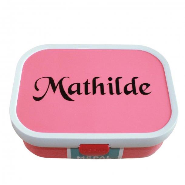 Mepal madkasse med navn - Pink