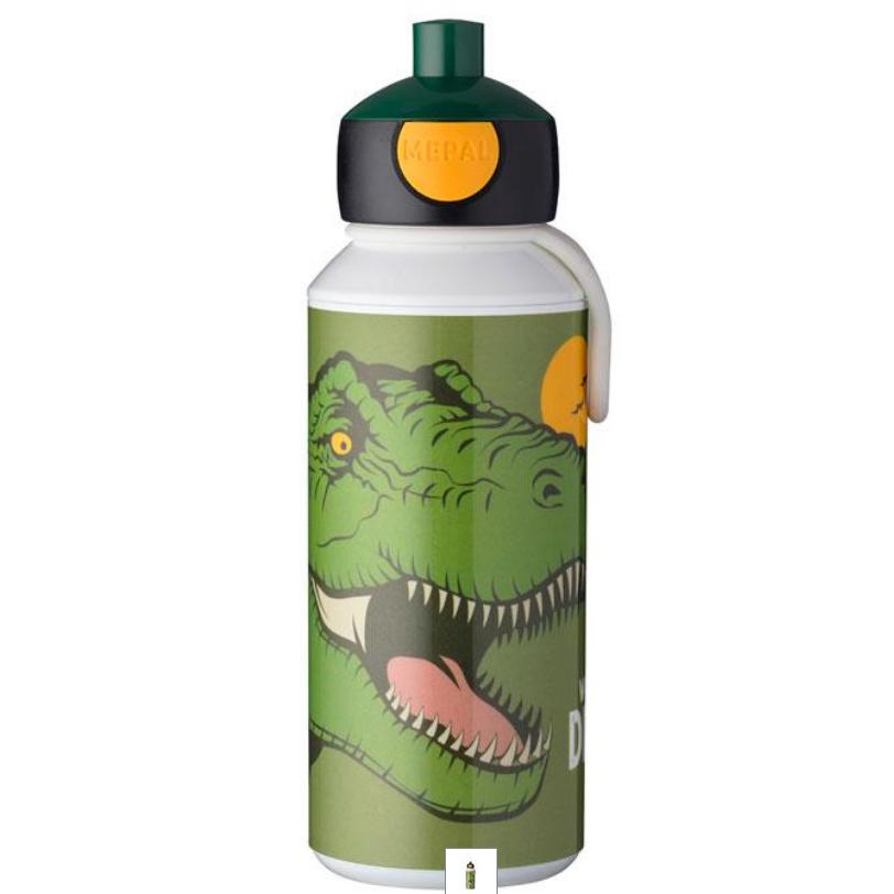 Drikkeflaske med navn - Dinosaurus