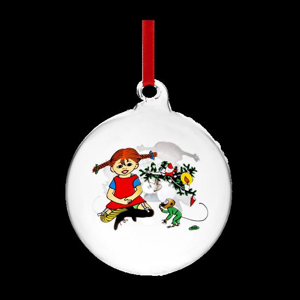 Pippi julekugle med navn - 9 cm