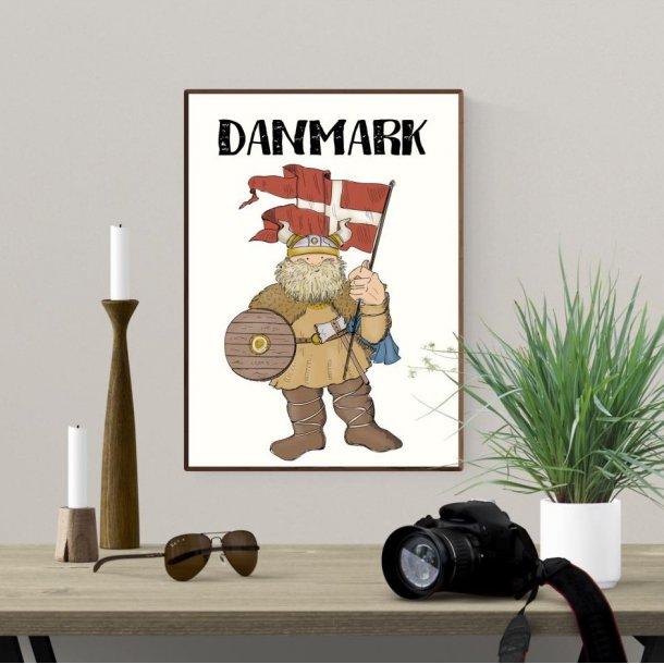 Plakat A4 - Vikingen Danmark