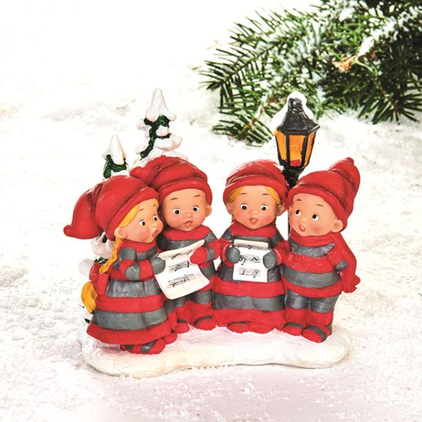 Pobra babynisser som synger julen ind