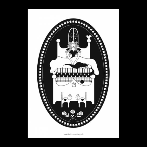 H.C Andersen kort  - Prinsessen på ærten