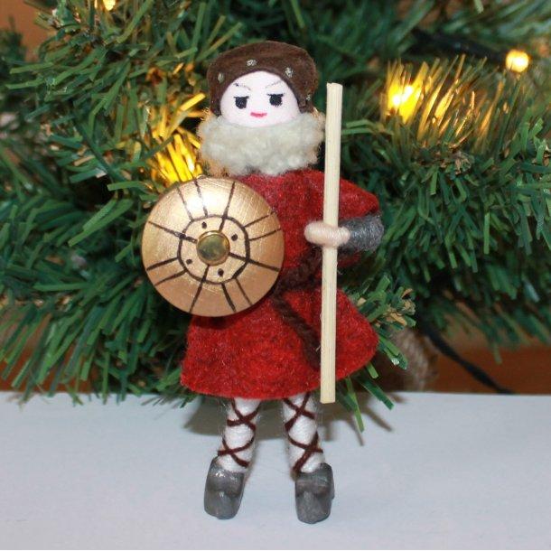 Rød viking med skjold