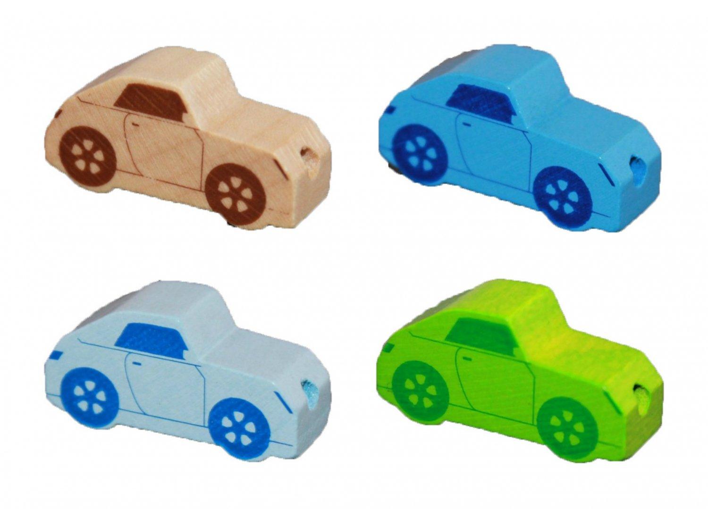 Træperler - Biler - Vandret