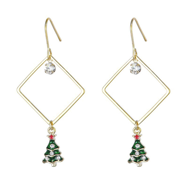 Øreringe med små juletræer