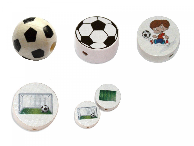 Træperler - Fodbold
