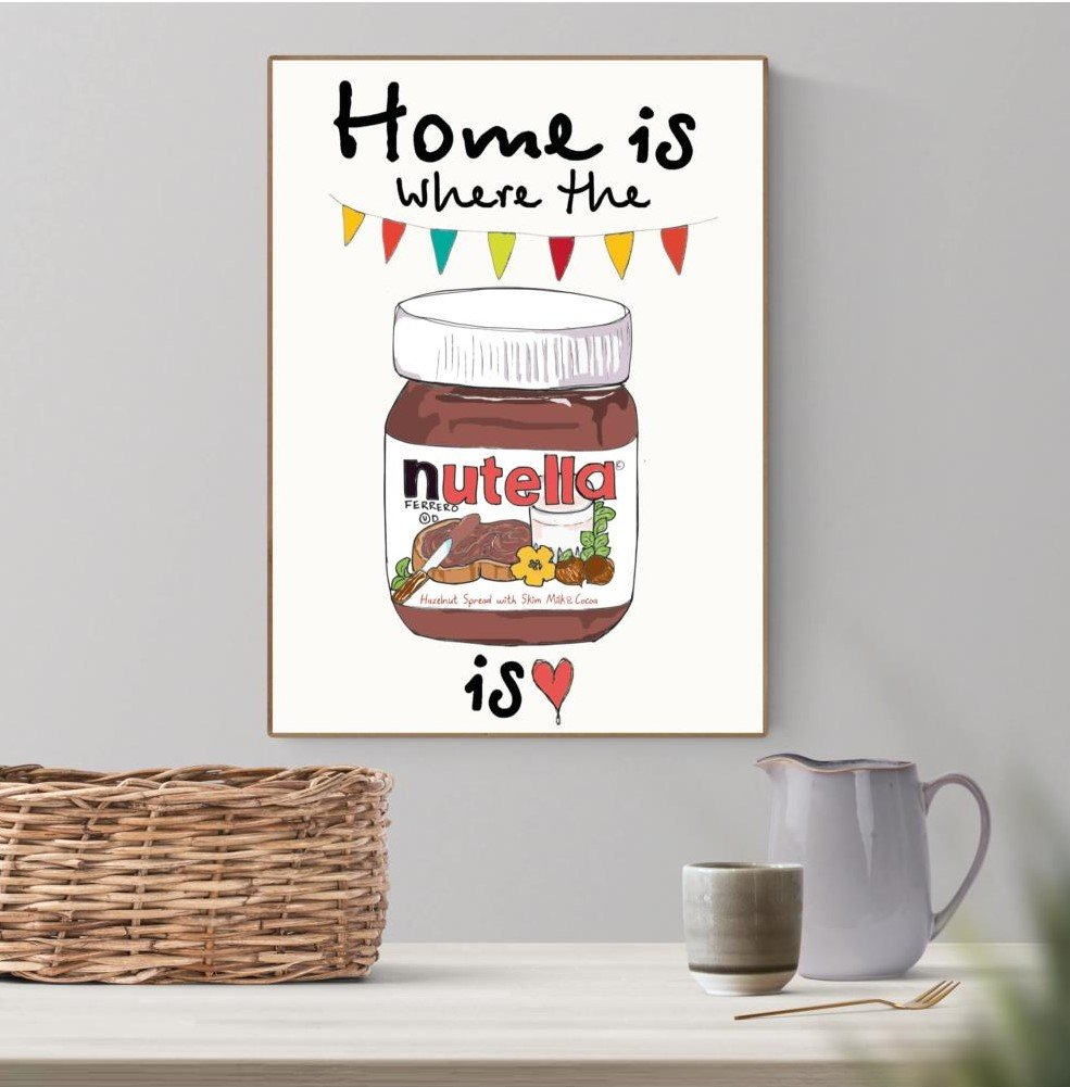 Plakat A3 - Home is where the nutella is