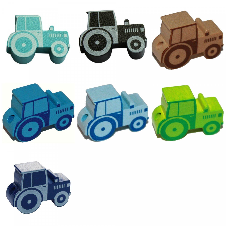 Træperler - Traktor - Vandret