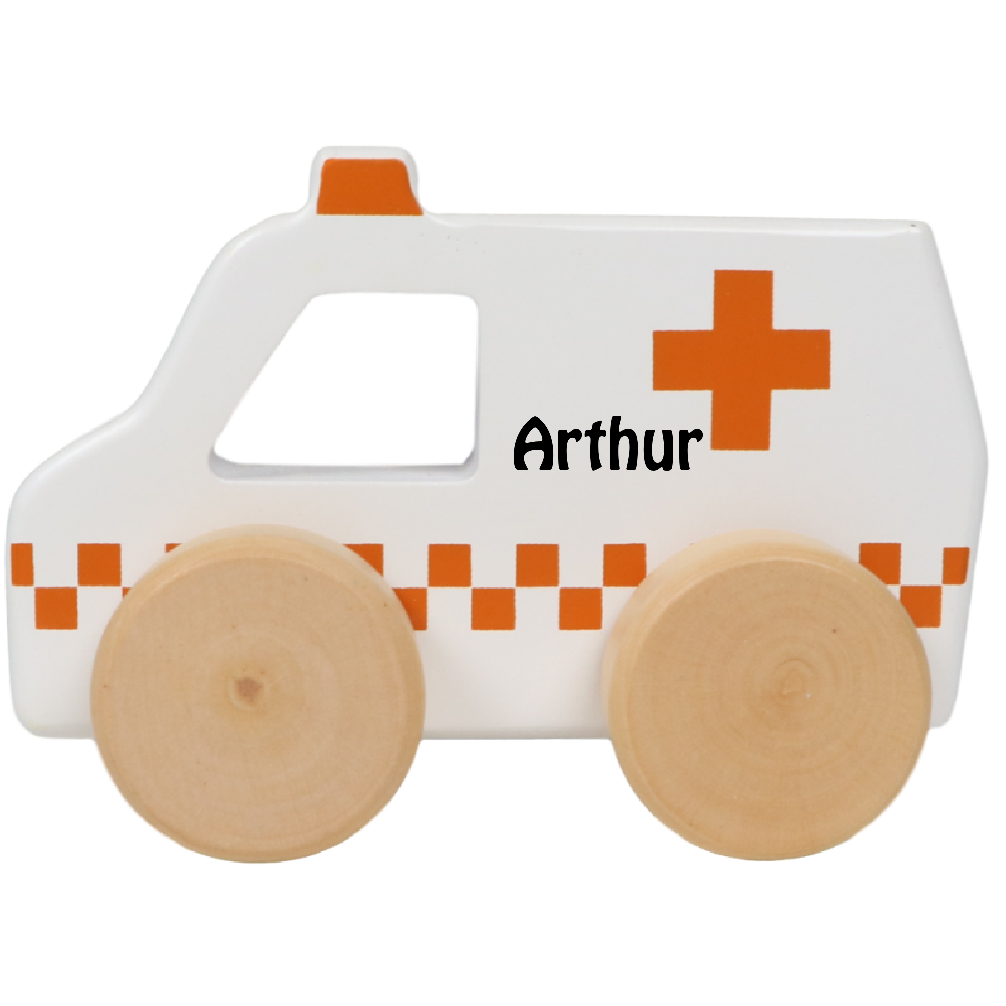 Tryco ambulance med navn