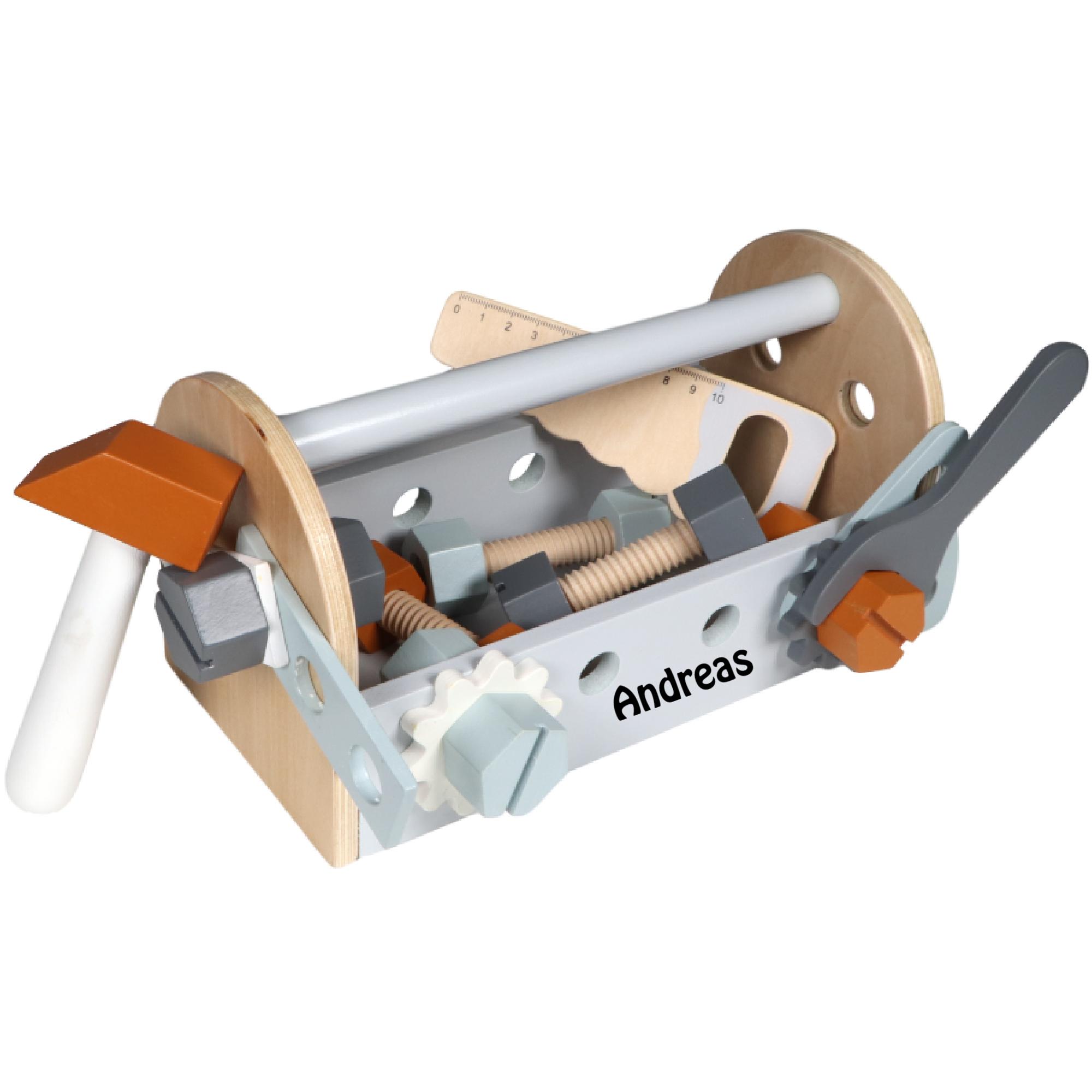 Tryco værktøjskasse med navn