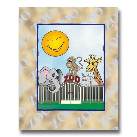 Zoo bogen - Tællebog med barnets navn