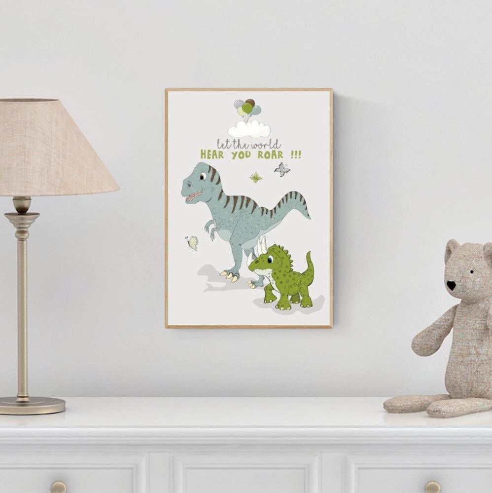 Plakat A3 - Dino Let the world hear you roar!