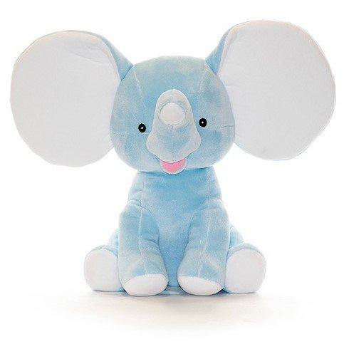 Lyseblå dumbo elefant bamse med navn