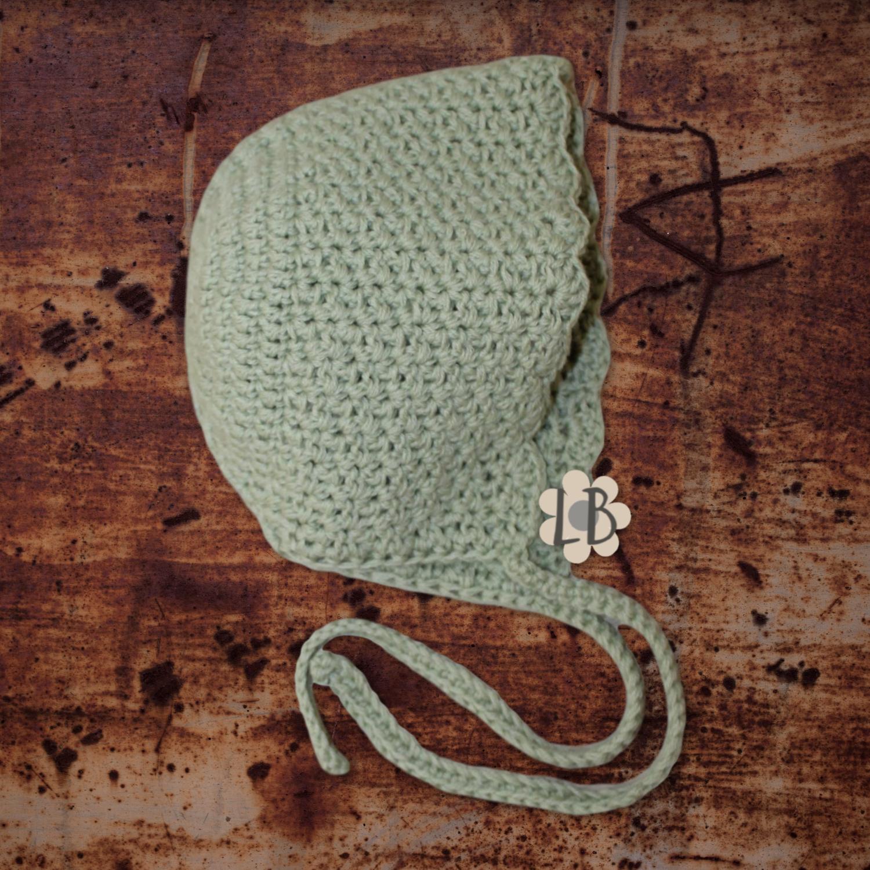 Hæklet babyhue - Aksel, Grøn