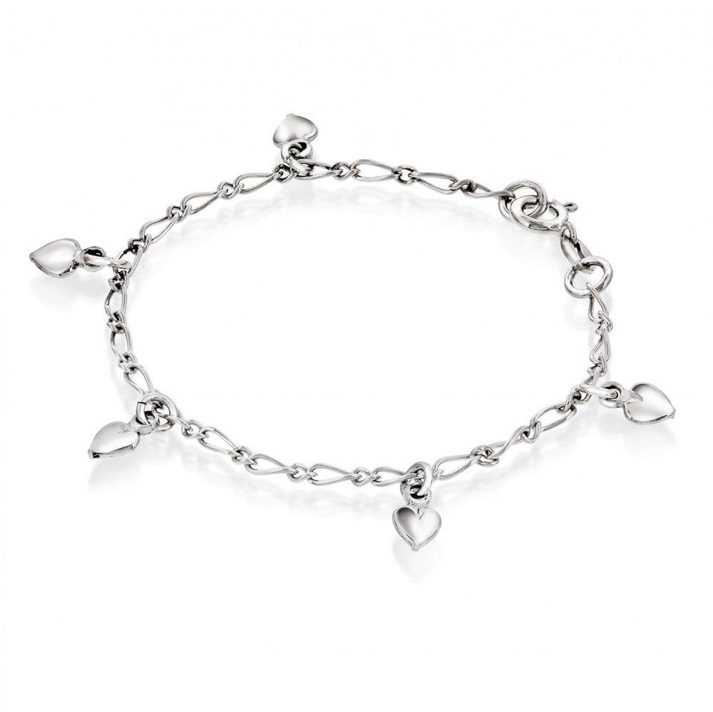 Charmsarmbånd i sølv - Hjerter