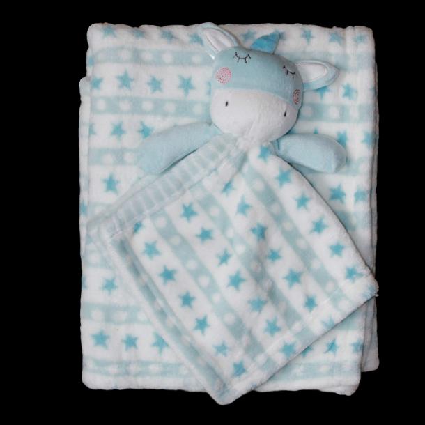 b47accaf3a5 Babytæppe og nusseklud - Lyseblå/mint - Babytæpper med/uden navn ...