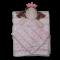 Babytæppe og nusseklud - Rosa