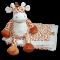 Giraf og tæppe med navn