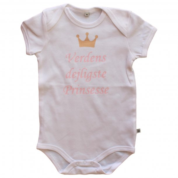 Body med korte ærmer - Lyserød - Verdens dejligste Prinsesse
