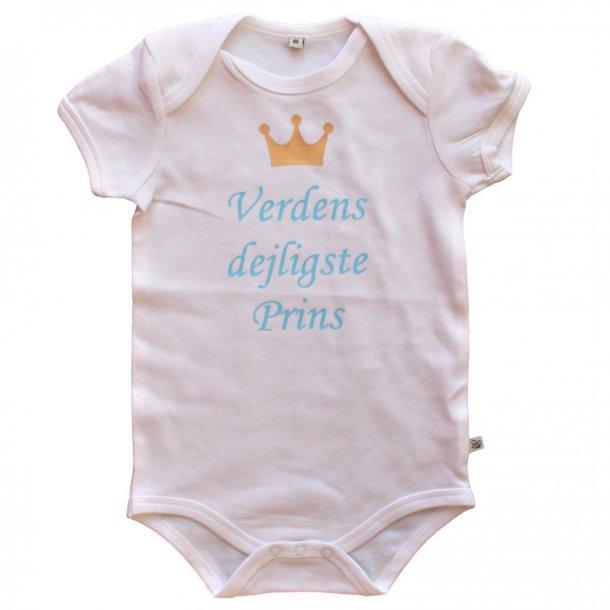 Body med korte ærmer - Lyseblå - Verdens dejligste Prins