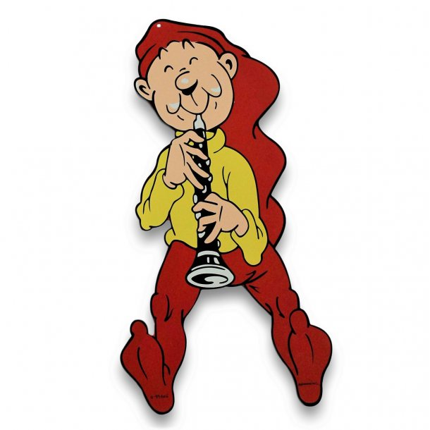 Bramming kravlenisse i træ 40 cm - Nisse med klarinet