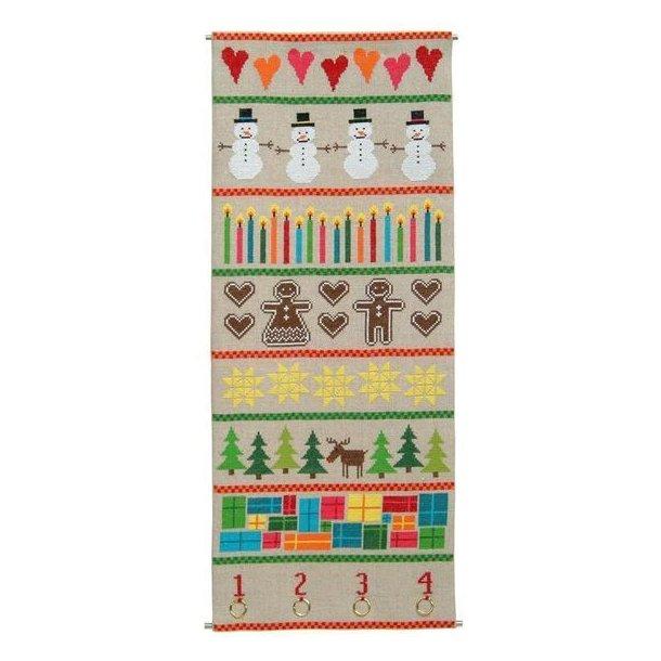 Broderikit - Adventskalender - Colourful Christmas