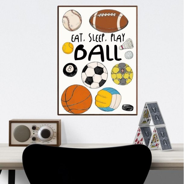Plakat A3 - Eat, sleep, play