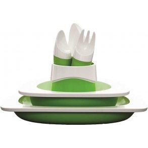 Spisesæt - bestik, krus & tallerken