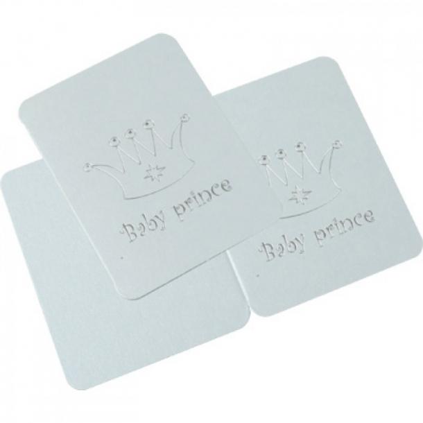 Dåbskort / Tillykkekort med kuvert  Lyseblå