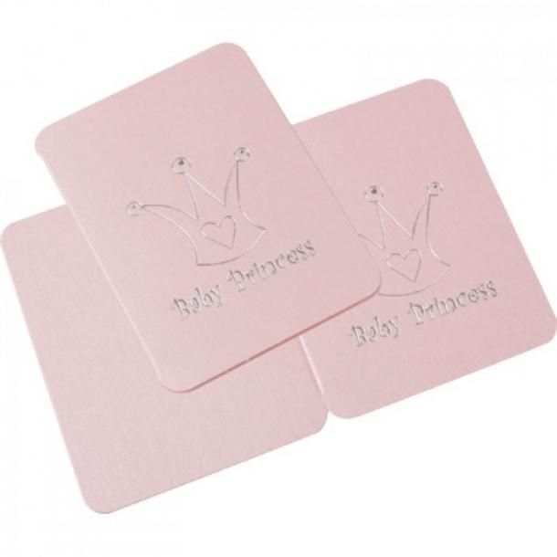 Dåbskort / Tillykkekort med kuvert  Lyserød