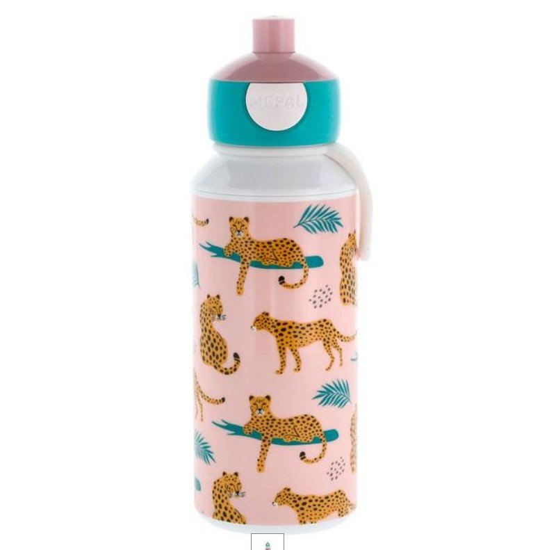 Drikkeflaske med navn - Leopard