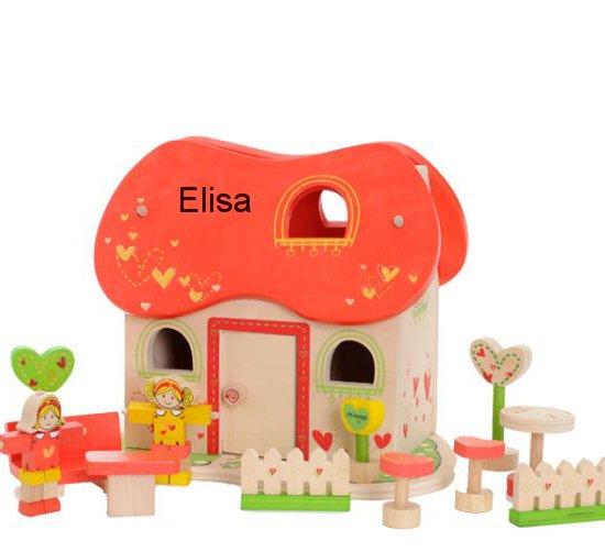 Fairtyle dukkehus med navn