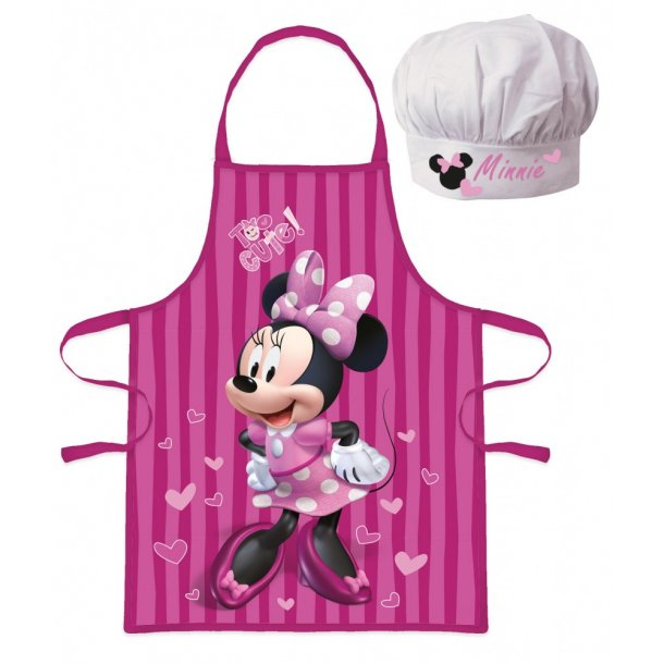 Minnie Mouse forklæde og hue