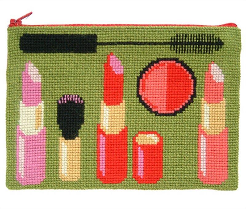 Broderikit - Kosmetikpung  i skønne farver