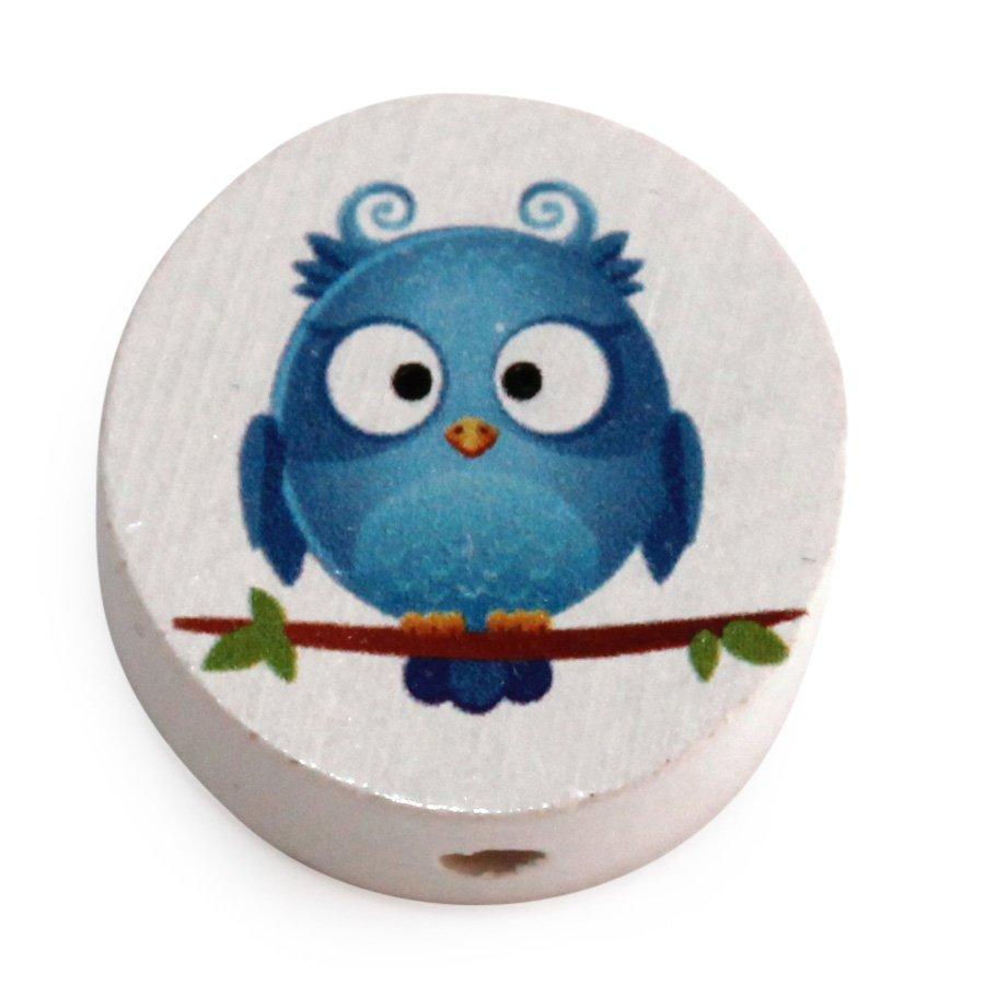 Træperle - Blå fugl