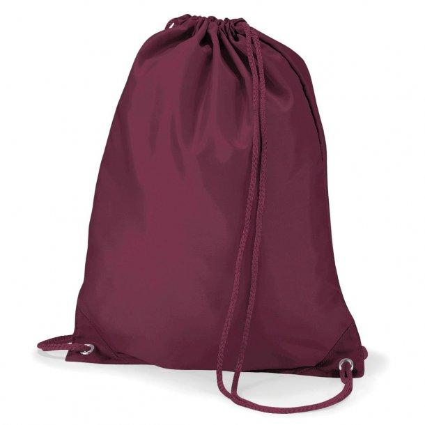 Gymnastikpose med navn - Burgundy